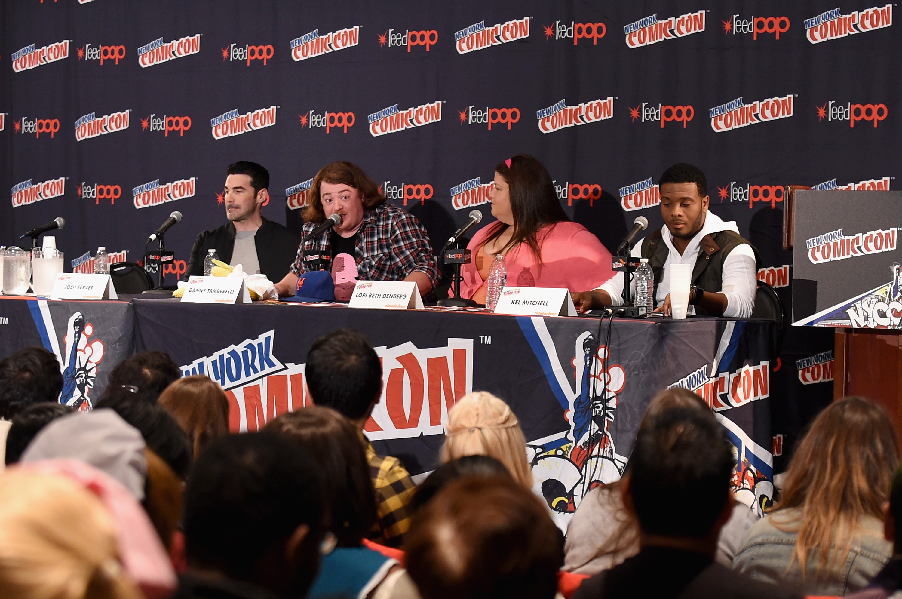 NEW YORK, NY - OCTOBER 10:  (L-R) Josh Server, Danny Tamberelli, Lori Beth Denberg and Kel Mitchell speak at The Splat: All That Reunion At New York Comic-Con on October 10, 2015 in New York City.  (Photo by Bryan Bedder/Getty Images for Nickelodeon)